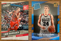 2017-18 LAURI MARKKANEN PANINI DONRUSS, PRESTIGE ROOKIE CHICAGO BULLS 2 Card Lot