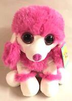 "Pink & White 12"" French Poodle Plush Toy Stuffed Animal Puppy  Dog Gift"