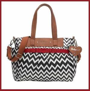 New Babymel Storksak Designer Cara Zig Zag Nappy Baby Changing Diaper Bag +More!
