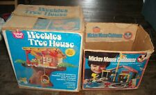 Vintage Hasbro Weebles Treehouse Mickey Mouse Clubhouse In Boxes & 26 Weebles