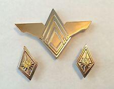 Battlestar Galactica (BSG) Colonel Rank Pin Set & Senior Officer Wings