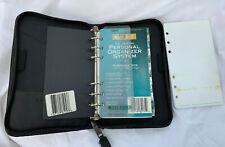 Vintage Day Timer Planner Organizer Black Portable Size