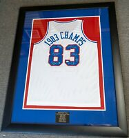 Julius Erving +7 1983 76ers Team Signed Jersey Lisa Ann Personally Owned BAS COA