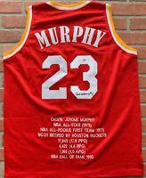 Calvin Murphy autographed signed jersey NBA Houston Rockets PSA COA Niagra