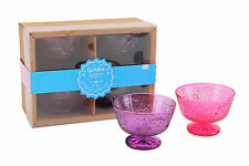 SET OF FOUR STYLISH ICE CREAM BOWLS PERFECT FOR SUMMER
