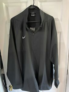 Nike Dri-FIT Men 4XL Team Woven Full Zip Jacket Black NWT $65
