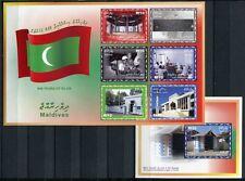 MALEDIVEN MALDIVE 2001 Islam Religion Geschichte 3763-3768 + Block 491 MNH