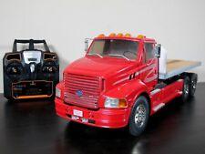 Custom Built Tamiya 1/14 Ford Aeromax Single Cab Semi Flatbed Truck ESC 2.4GHz