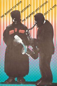 Originale Vintage Poster Milton Glaser Russo Tè Camera NEWPORT Jazz 1972