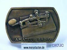 Morsetaste Morse Key Telegraph Key Morse Cley Gürtelschnalle Buckle Sammlerstück