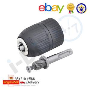 """13mm Keyless Chuck Plus SDS Adaptor Fits Any Drill Makita DeWalt Bosch 1/2"""""""
