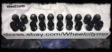 """12x1.5 black lug nuts conical seat 1.38"""" long 20x NEW fits Toyota Corolla Prius"""