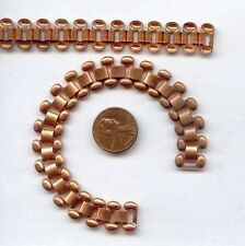 """3 VINTAGE AGED COPPER COATED 1/2"""" WIDE TRACK CHAIN 6.5"""" SECTIONS T52"""