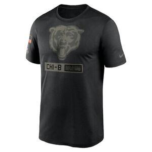 New Chicago Bears Nike Salute to Service Team Logo Performance Legend T-Shirt