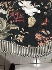 Williamsburg Black Floral Valance Magnolia 77 By 16