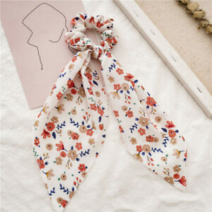 Summer Fashion Streamers Classic Hair Ring Headwear Beautiful Floral Rubber Band