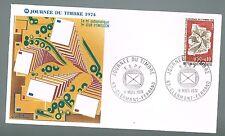 ENVELOPPE 1ER JOUR JOURNEE DU TIMBRE 1974 CLERMONT FERRAND GUILLAME