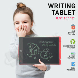 "LCD Writing Tablet 8.5/10/12"" LCD Degital Drawing Pad Memo Message Boards kids"