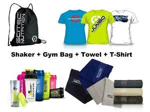 Scitec Nutrition Optimum Biotech Gym Starter Kit T-Shirt Gym Bag Towel Shaker