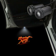 2pcs Fire Horse Logo Car Door LED Laser Projector Shadow Light For Ford Mustang