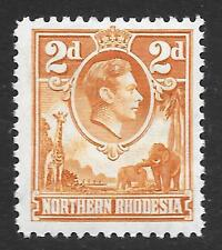 Northern Rhodesia 1938-52 2d Yellow-Brown SG 31 (Mint)