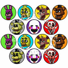 14x EDIBLE Five Nights at Freddy's FNAF Cupcake Toppers Wafer Paper 4cm (uncut)
