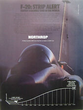 6/1984 PUB NORTHROP F-20 TIGERSHARK US AIR FORCE USAF FIGHTER ORIGINAL AD