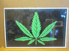 """Vintage 1991 /""""THC Leaf/"""" poster Cannabis Sativa marijuana  3724"""