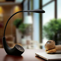Touch Control 3-Level Dimmable USB Powered LED Desk Table Bedside Reading Lamp