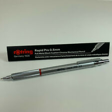 Rotring Rapid PRO Technical Drawing Metal Silver Chrome 0.5mm Mechanical Pencil