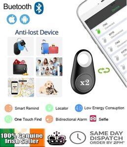2Pcs Bluetooth Smart Tracker Device Two Way Finder Anti-Lost Alarm itag Locator