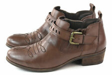 N.Y.L.A. Womens Anjela Bootie With Buckle Brown Size 6.5 M US