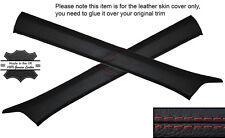 RED STITCH 2X A POST PILLAR SKIN COVERS FITS MERCEDES W124 E CLASS 83-95
