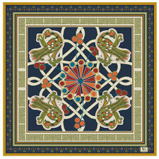 Patrick Francis Book of Kells Pure Silk Scarf (Navy)