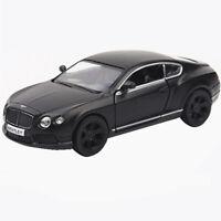 1:36 Bentley Continental GT V8 Model Car Toy Vehicle Diecast Black Kid Pull Back