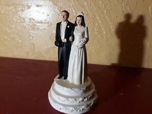 Vintage Wedding Cake Topper Coast Novelty Co 318 Bride Groom 1941 Chalk ware?