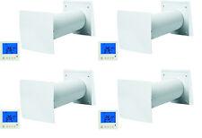 Häuselbauer-Set - 4x Wohnraumlüftung TwinFresh Easy mit Digital-Bedieneinheit