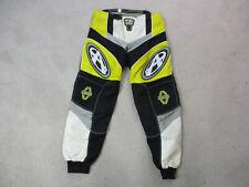 Edge Pants Mens 32 Yellow Dirtbike Motocross Motorcycle Protective Gear Rider *