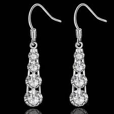 Ear Drop Fashion Jewelry Christmas gift 925 Silver Earrings Solid Aaa Zircon