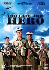 Michael Caine Cliff Robertson Henry Fonda Too Late The Hero - War Drama DVD