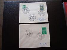 FRANCE - 2 enveloppes 1959/1960 (B12) french