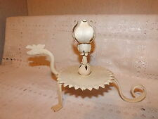 Vintage Gothic Metal Dragon Candle Holder~Painted White~Very Chic~One Of A Kind