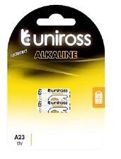 4x A23 UNIROSS PILAS ALCALINAS 12v - TIMBRES,alarmas etc LRV08 MN21 23a