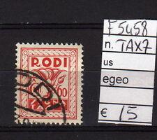 FRANCOBOLLI ITALIA COLONIE EGEO USATI TAX N°7 (F5458)