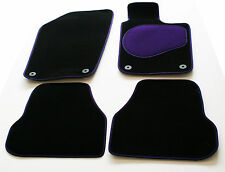 Rover 800 I 86-92 Perfect Fit Black Carpet Car Mats - Purple Trim & Heel Pad
