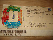 Billet Ticket Série À 2000/2001 AC Milan Juventus 21/10/2000 1° Bague
