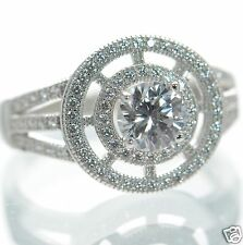 Solid 925 Sterling Silver Round Cut Lab Simulated Diamond Engagement Ring Sz-6 '