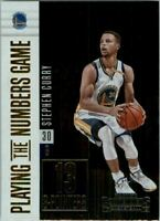 2017-18 Panini Contenders Playing the Numbers Game #33 Stephen Curry
