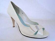 FIFIPPA SCOTT RUBY LADIES IVORY SILK WEDDING BRIDAL HEELS SHOES UK 3 - EUR 36