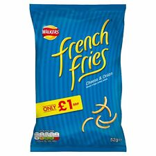Walkers French Fries Cheese & Onion Snacks 52g Case of 12